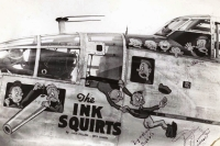The ink squirts