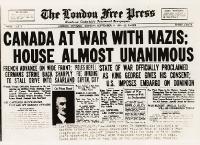 Il Canada dichiara guerra ai nazisti