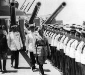 Mussolini sulla Littorio