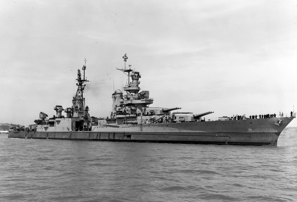 USS Indianapolis CA 35 off the Mare Island Naval Shipyard on 10 July 1945 19 N 86911