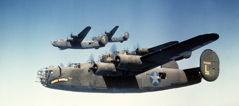 B 24 Liberators in Formation